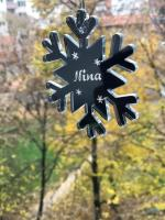 Personalizovani ukras pahulja 400din po komadu urađeni od pleksiglas ogledalo