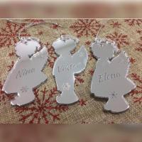 Personalizovani ukrasi anđeli devojčice i dečaci 370 din po komadu urađeni od pleksiglas ogledalo
